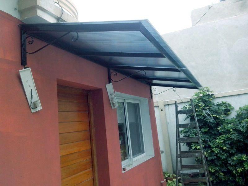 aleros de policarbonato sur metal On techos para corredores